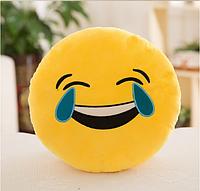 Декоративные подушки Смайл Смех до слез Emoji 33 см. Подушка смайлик, фото 1