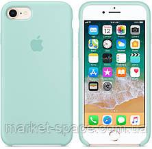 """Чехол силиконовый для iPhone 7/8. Apple Silicone Case, цвет """"Зелёная лагуна"""", фото 3"""