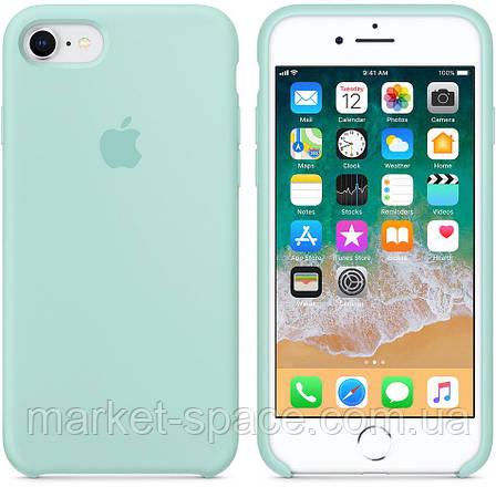 """Чехол силиконовый для iPhone 7/8. Apple Silicone Case, цвет """"Зелёная лагуна"""", фото 2"""