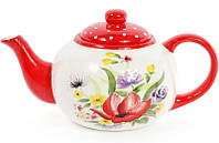 Чайник заварочный Bona Акварель 1250 мл керамический Белый с рисунком BD-DK0097-Dpsg, КОД: 295932