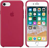 """Чехол силиконовый для iPhone 7/8. Apple Silicone Case, цвет """"Красная роза"""""""
