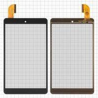 """Сенсорний екран для планшету Tablet PC 8""""; Cube U33GT, 8"""", 205 мм, 118 мм, 45 pin, чорний, #DXP2-0350-080A"""