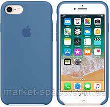"""Чехол силиконовый для iPhone 7/8. Apple Silicone Case, цвет """"Синий деним"""", фото 3"""