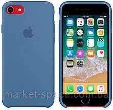 """Чехол силиконовый для iPhone 7/8. Apple Silicone Case, цвет """"Синий деним"""", фото 2"""