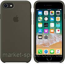 """Чехол силиконовый для iPhone 7/8. Apple Silicone Case, цвет """"Тёмно-оливковый"""", фото 2"""