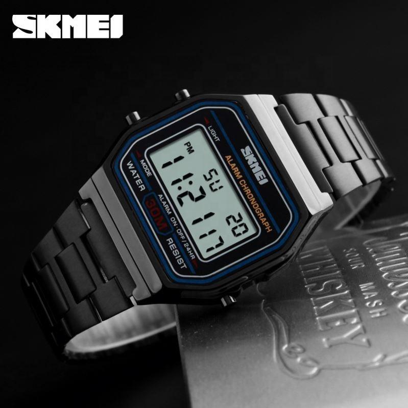 Skmei 1123  popular  черные мужские часы
