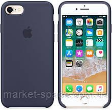 """Чехол силиконовый для iPhone 7/8. Apple Silicone Case, цвет """"Тёмно-синий"""", фото 3"""