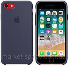 """Чехол силиконовый для iPhone 7/8. Apple Silicone Case, цвет """"Тёмно-синий"""", фото 2"""