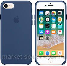 """Чехол силиконовый для iPhone 7/8. Apple Silicone Case, цвет """"Тёмный кобальт"""", фото 3"""