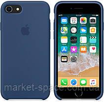 """Чехол силиконовый для iPhone 7/8. Apple Silicone Case, цвет """"Тёмный кобальт"""", фото 2"""