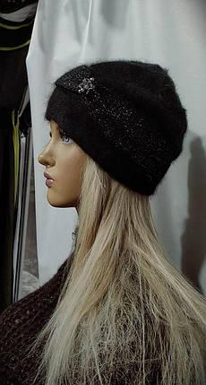 Шапка женская YUAN MENG Александрина 8861 черный, фото 2