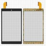"""Сенсорний екран для планшету Tablet PC 8"""";  Archos 80 Oxygen, 8"""", 206 мм, 120 мм, 45 pin, чорний, #HXD-0827A1"""