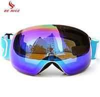 Горнолыжные / сноубордические очки (маска) BE NICE SNOW-4500 UV400 (NEW 2019) anti-fog двойная линза, фото 1
