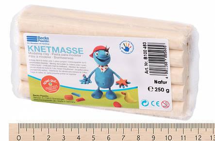 Пластилин классический Becks Plastilin 250г натуральный B100463, фото 2