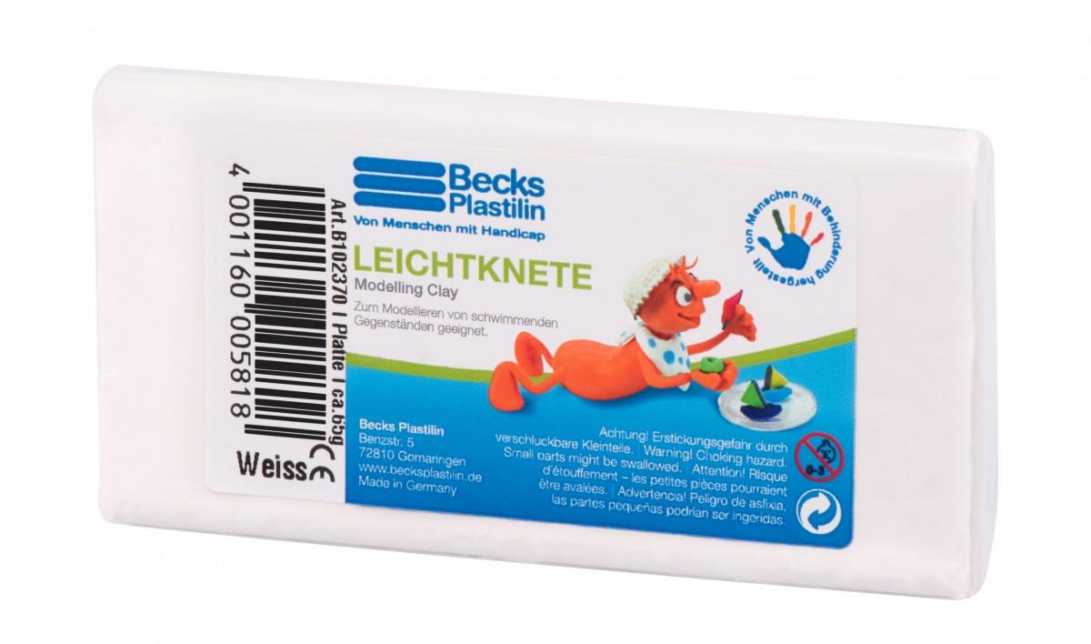 Пластилин плавающий Becks Plastilin 65г белый B102370