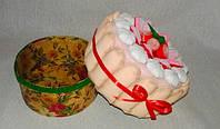 Подарочный торт-шкатулка из фетра, фото 1
