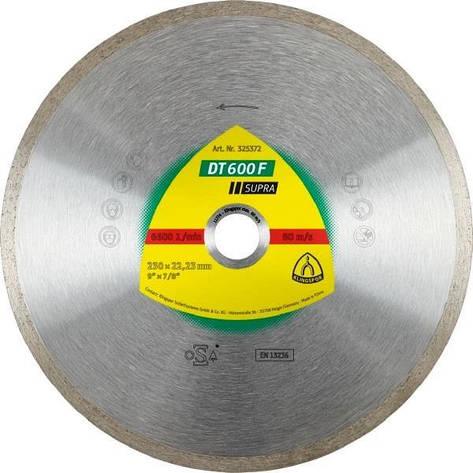 Диск алмазный Klingspor SUPRA DT600F 200X25,4 / 30 (керамическая плитка, керамогранит), фото 2
