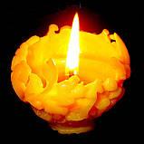 """Новогодняя восковая свеча """"Ёлочная игрушка"""" из натурального пчелиного воска, фото 6"""