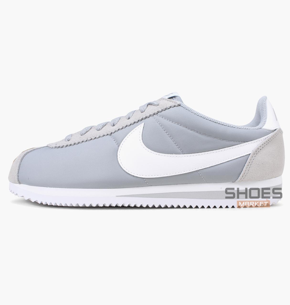 8658dc95 Мужские кроссовки Nike Classic Cortez Nylon Grey 807472-010, оригинал -  Интернет-магазин