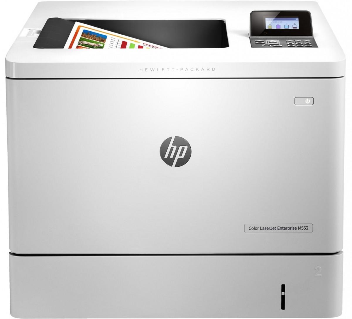 Принтер А4 HP Color LJ Enterprise M553dn