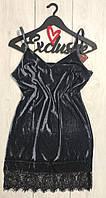 Велюрову сукню пеньюар з широким мереживом