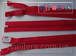 Молния спираль YKK 80cm 519 красная 1бегунок разьемная
