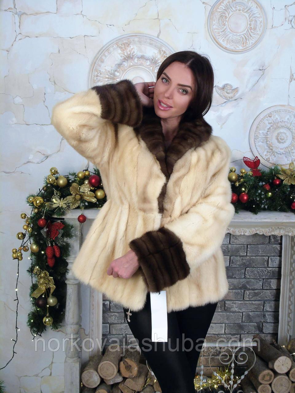 Шикарная норковая шуба пиджак 46 48 50