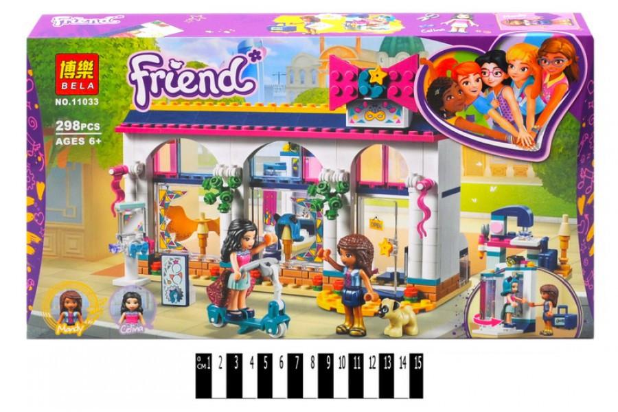 Конструктор Bela Friend 11033 Магазин аксессуаров Андреа, 298 дет. (Френдс, подружки)