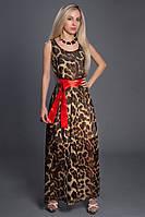Платье шифоновое в комплекте с атласным поясом
