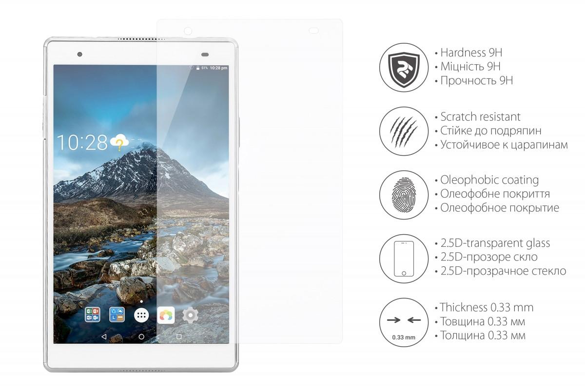 """Защитное стекло 2Е Lenovo TAB 4 8 Plus 8"""" 2.5D clear"""