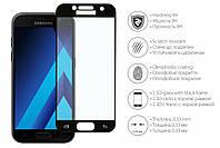 Защитное стекло 2E Samsung Galaxy A3 2017 2.5D Black border FG
