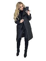 Пальто женское на синтепоне черного цвета 46