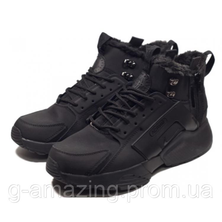 Nike Air Huarache High Black