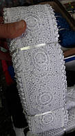 Кружево ажурное Цветок 9 см, моток 20м, цвет белый