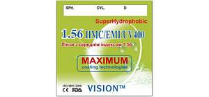 Корейские линзы для очков VISON™ 1,56 (с покрытием HMC+EMI+UV400+EP) SUPER HYDROPHOBIC )