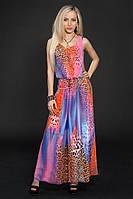 Платье шифоновое в комплекте с цепочкой по талии