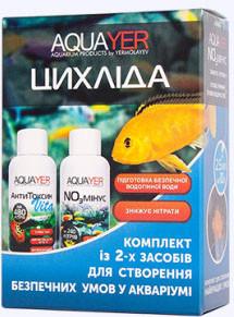 "Комплект ""Цихлида"" (NO3 минус+АнтиТоксин Vita), 2x60мл Aquayer"