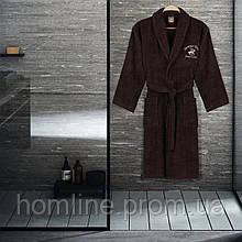 Халат Beverly Hills Polo Club S/M brown коричневый 355BHP1703