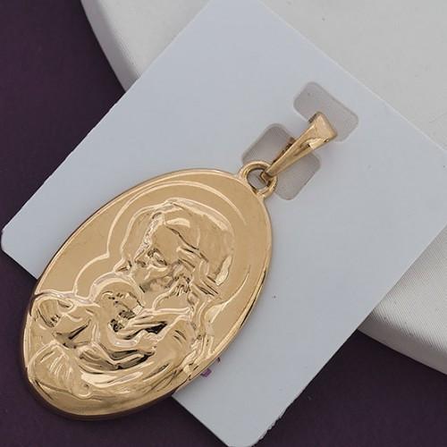 Ладанка овальная Xuping Jewelry медицинское золото, позолота 18К. А/В 2132