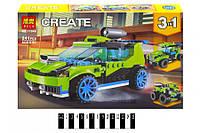 Конструктор BELA Create Гоночный автомобиль 3 в 1, 241 дет. техник, фото 1