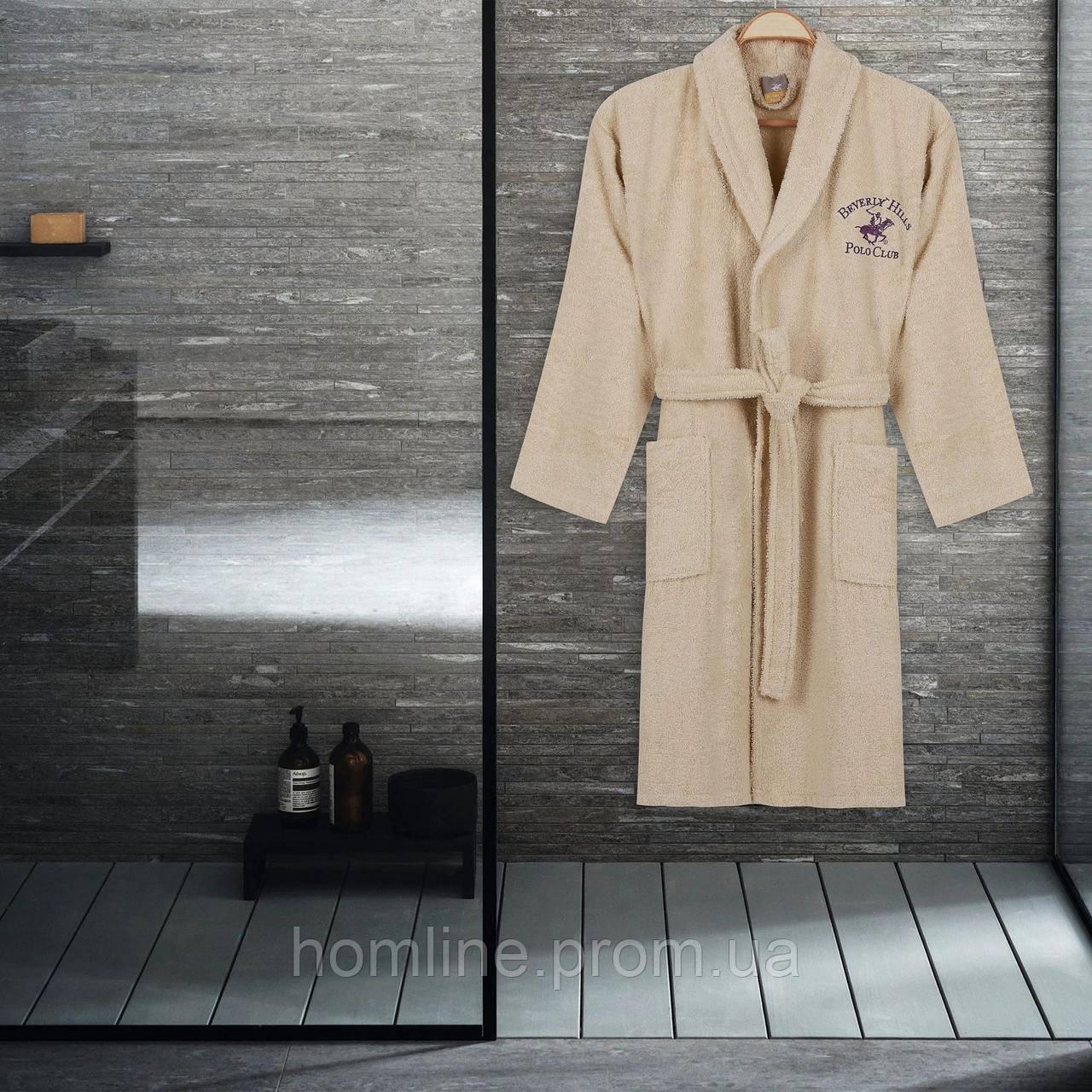 Халат Beverly Hills Polo Club XS/S krem кремовый 355BHP1704