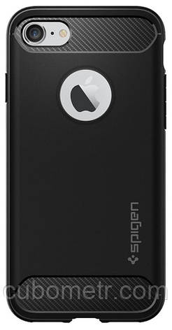 Чехол Spigen для iPhone 8/7 Rugged Armor Black, фото 2