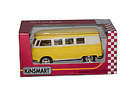"""Машинка KINSMART """"Volkswagen T2 BUS"""" KT5060WY Желтая"""