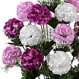Букет искусственных шаровидных хризантем, 65см, фото 2