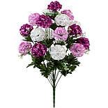 Букет искусственных шаровидных хризантем, 65см, фото 3