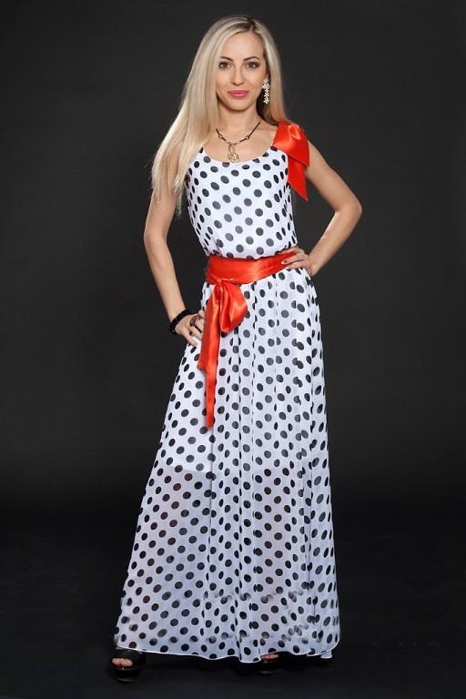 5bf6c83af26f Шифоновое женское платье в горошек  продажа, цена в Хмельницком. от ...