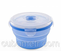 Контейнер-трансформер для еды Nuvita 6м+ 540мл Синий NV4468Blue