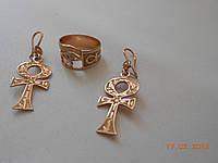 """Золотой набор """"Мальтийский крест"""" авторская работа, фото 1"""