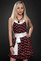 Платье женское с пышной шифоновой юбкой