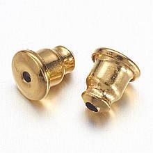 Металлические заглушки для пусет 5,5х5мм золото конусной формы для рукоделия